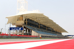The grandstand on the start/finish straight