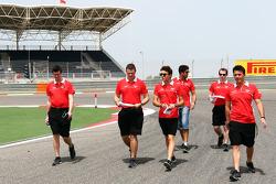 Jules Bianchi, Marussia F1 Team walks the circuit