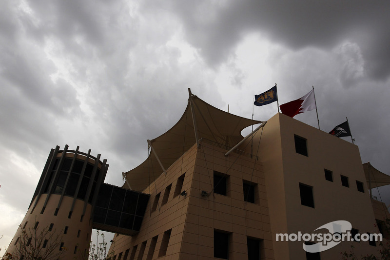 Dark clouds over the paddock