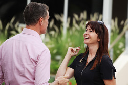 (L to R): David Coulthard, Red Bull Racing and Scuderia Toro Advisor / BBC Television Commentator with Suzi Perry, BBC F1 Presenter