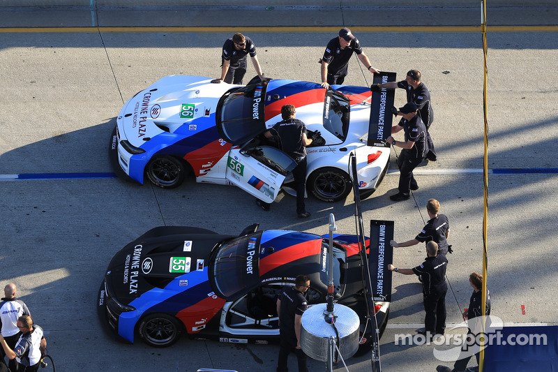 #55 BMW Team RLL BMW Z4 GTE: Bill Auberlen, Maxime Martin and #56 BMW Team RLL BMW Z4 GTE: Dirk Müller, Joey Hand