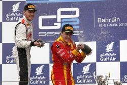 Podium: race winner Fabio Leimer, second place Stefano Coletti