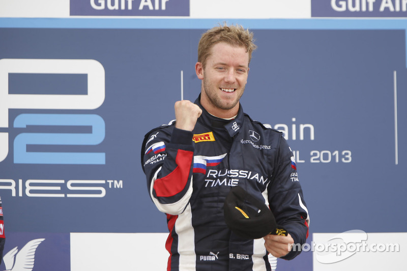 Podium: race winner Sam Bird