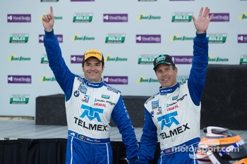 Overall podium: winners Scott Pruett and Memo Rojas