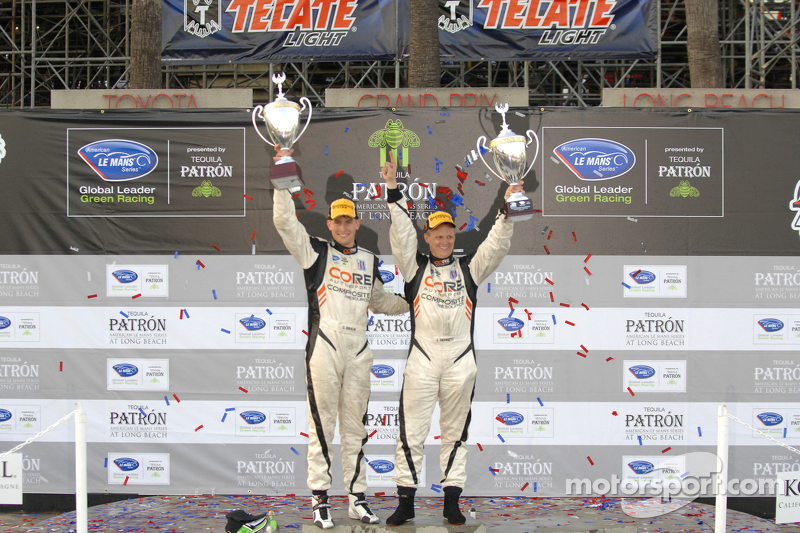 PC podium: winners Jonathan Bennett, Colin Braun