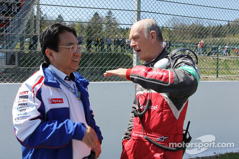 Yoshiaki Kinoshita, Toyota Racing Team President with Dr. Wolfgang Ullrich, Audi Motorsport Team Boss