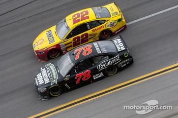 Kurt Busch and Joey Logano