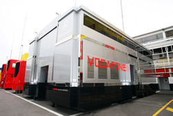 McLaren trucks in the paddock