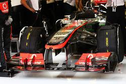 McLaren front wing of Sergio Perez, McLaren