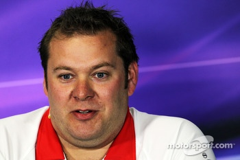 Dave Greenwood, Marussia F1 Team Race Engineer in the FIA Press Conference