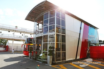 Marussia F1 Team motorhome