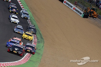DTM Cars at the start through Paddock hill bend