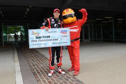 Polesitter Sage Karam, Schmidt Peterson Motorsports