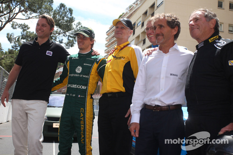 Charles Pic, Caterham, Carlos Tavares, Renault COO, Alain Prost (FRA)
