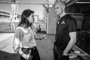 Audi Sport race engineer Leena Gade and Marino Franchitti