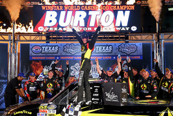 Race winner Jeb Burton celebrates