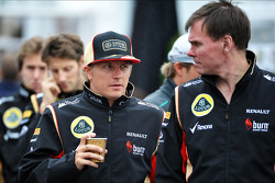 (L to R): Kimi Raikkonen, Lotus F1 Team with Alan Permane, Lotus F1 Team Trackside Operations Director