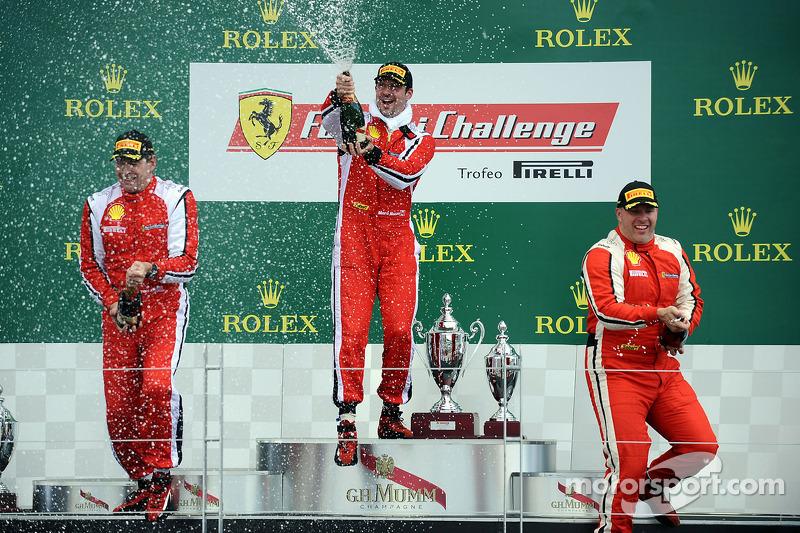 Coppa Shell podium: winner Marc Muzzo, second place Brent Lawrence, third place Jon Becker