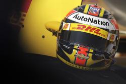 Ryan Hunter-Reay, Andretti Autosport Chevrolet helmet detail