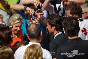 Patrick Dempsey surrounded by fans