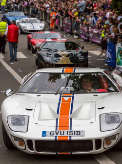 Ford GTs fill the streets of Le Mans