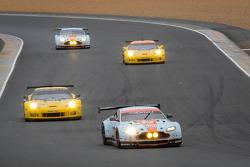 #95 Aston Martin Racing Aston Martin Vantage GTE: Allan Simonsen, Christoffer Nygaard, Kristian Poulsen on its last lap
