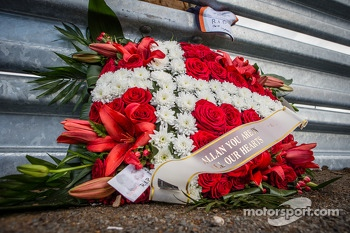 Fan memorial for Allan Simonsen at Tertre Rouge
