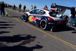 #208 Peugeot 208 T16 Pikes Peak: Sébastien Loeb at the start of sector 3