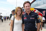 Geri Halliwell, Singer with Christian Horner, Red Bull Racing Team Principal
