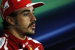 Fernando Alonso Ferrari in the FIA Press Conference