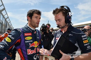 Mark Webber Red Bull Racing on the grid