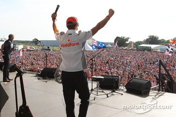 Jenson Button McLaren at the post race concert