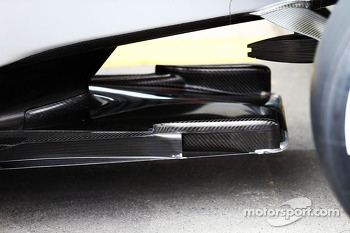 Mercedes AMG F1 W04 'tea tray' detail