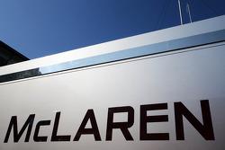 McLaren logo on a truck