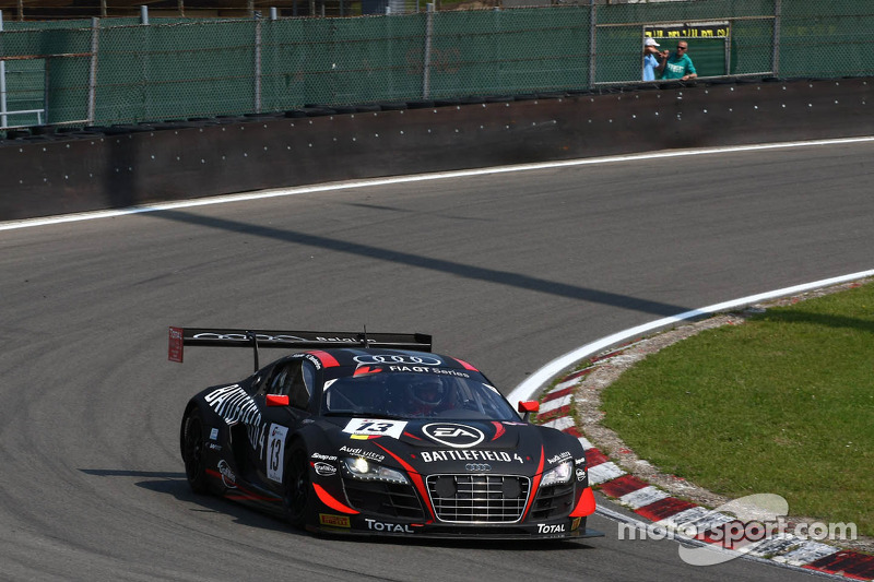 #13 Belgian Audi Club Team WRT Audi R8 LMS ultra: Frank Stippler, Edward Sandström