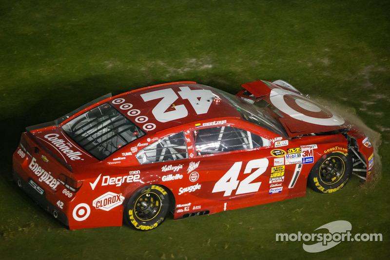 Juan Pablo Montoya, Earnhardt Ganassi Racing Chevrolet crashes