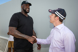 Shaquille O'Neal and Brad Keselowski, Penske Racing Ford