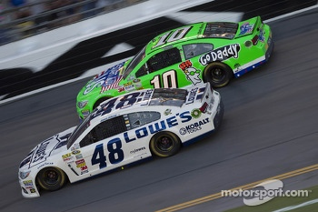 Jimmie Johnson and Danica Patrick