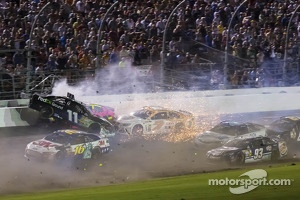 Crash for Denny Hamlin, Joe Gibbs Racing Toyota