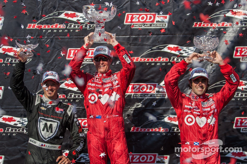 Scott Dixon, Target Chip Ganassi Racing Honda Target Chip Ganassi Racing, Sebastien Bourdais, Dragon Racing  Chevrolet, Dario Franchitti, Target Chip Ganassi Racing Honda Celebrate