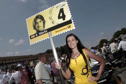 Grid girl of Roberto Merhi, Mercedes AMG DTM-Team HWA DTM Mercedes AMG C-Coupe
