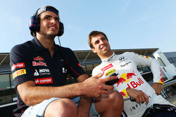Carlos Sainz Jr., Scuderia Toro Rosso Test Driver with Antonio Felix da Costa, Red Bull Racing Test Driver