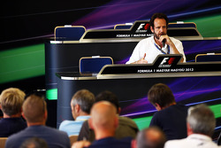 Matteo Bonciani, FIA Media Delegate at a meeting of F1 Media Journalists and Photographers