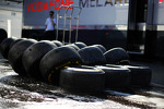 Washed Pirelli tyres used by McLaren
