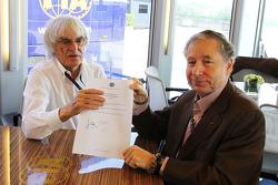 伯尼•埃克莱斯顿,让•托德,签署《协和协议》
