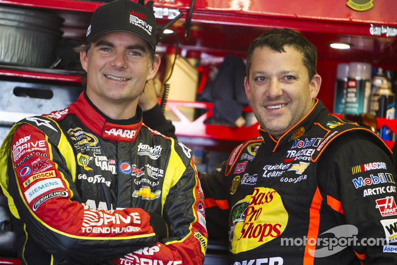 Jeff Gordon and Tony Stewart