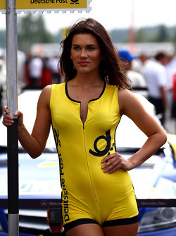Grid girl of Gary Paffett, Mercedes AMG DTM-Team HWA DTM Mercedes AMG C-Coupe