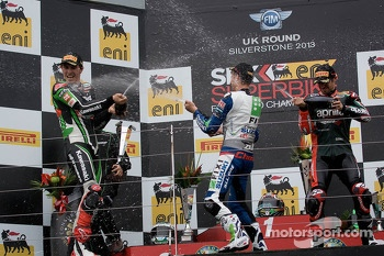 Podium : Jules Cluzel, Loris Baz and Eugene Laverty