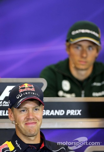 Sebastian Vettel, Red Bull Racing at the press conference