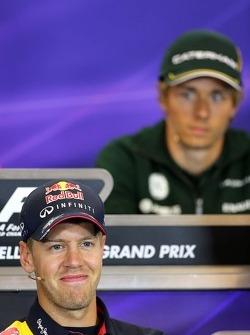 Sebastian Vettel, Red Bull Racing at the press conference